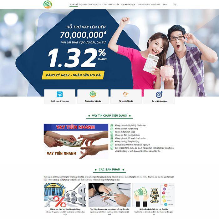 Mau Website Cho Vay Tin Dung Ma 307 4